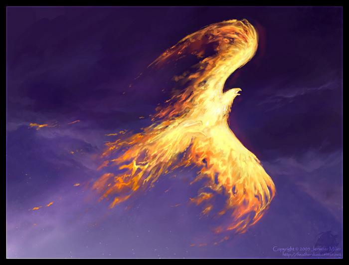 В средние века в Китае Птица Феникс была символом